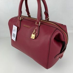 New Michael Kors Grayson Leather Satchel